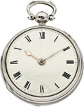 Timepieces:Pocket (pre 1900) , John Archambo London Early Verge Fusee, circa 1730. ...