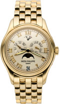 Timepieces:Wristwatch, Patek Philippe Ref. 5036/1J-001 Men's Gold Astronomic AnnualCalendar Wristwatch with Power Reserve Indicator, circa 2002. ...