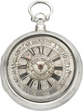 Timepieces:Pocket (pre 1900) , Samson London Verge with Champlevé Dial, circa 1790. ...