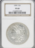 Proof Morgan Dollars: , 1898 $1 PR60 NGC. NGC Census: (3/143). PCGS Population (13/176).Mintage: 735. Numismedia Wsl. Price for NGC/PCGS coin in P...