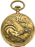 Timepieces:Pocket (post 1900), Vacheron & Constantin Men's Gold Hunter Case Pocket Watch, circa 1910. ...