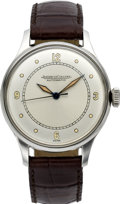 Timepieces:Wristwatch, Jaeger LeCoultre Men's Stainless Steel Automatic Wristwatch, circa 1950's. ...