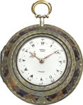 Timepieces:Pocket (pre 1900) , George Prior Silver and Tortoise Quad Case Verge with Mock Pendulum, circa 1780. ...