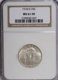 Standing Liberty Quarters: , 1918-D 25C MS61 Full Head NGC. NGC Census: (9/147). PCGS Population (2/243). Mintage: 7,380,000. Numismedia Wsl. Price for ...
