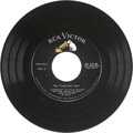 Music Memorabilia:Recordings, Elvis Presley Pop Transcribed Spot 45 for Radio (RCA 0646,1957)....
