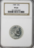Proof Barber Quarters: , 1909 25C PR64 NGC. NGC Census: (57/106). PCGS Population (51/68). Mintage: 650. Numismedia Wsl. Price for NGC/PCGS coin in ...