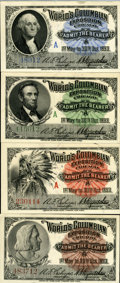 Expositions and Fairs, 1893 World's Columbian Exposition Admission Tickets.... (Total: 4 items)