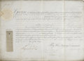 "Autographs:Non-American, George III Signed Military Appointment, partially printed DS""George R."" on vellum, 16.25"" x 12"", Court at St. James,Ma..."