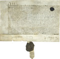 Autographs:Non-American, [Queen Elizabeth I] Autograph Document,...