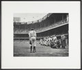 "Baseball Collectibles:Photos, Nat Fein Signed ""The Babe Bows"" Out Large Photograph...."