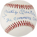 "Autographs:Baseballs, 1980's Mickey Mantle ""The Commerce Comet"" Single Signed Baseball...."
