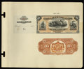 Hawaiian Islands $10 Silver Certificate (1880) Pick 1p Face and Back Proofs