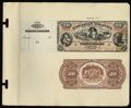 Large Size:Demand Notes, Hawaiian Islands $20 Silver Certificate (1879) Pick 2p Face andBack Proofs.... (Total: 2 notes)