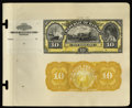Large Size:Demand Notes, Republic of Hawaii $10 Gold Certificate 1895 Pick 7p Face and BackProofs.... (Total: 2 notes)