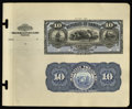 Large Size:Demand Notes, Republic of Hawaii $10 Silver Certificate 1895 Pick 12p Face andBack Proofs.... (Total: 2 notes)