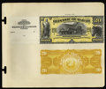 Large Size:Demand Notes, Republic of Hawaii $20 Gold Certificate 1895 Pick 8p Face and BackProofs.... (Total: 2 notes)