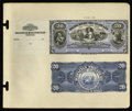 Large Size:Demand Notes, Republic of Hawaii $20 Silver Certificate 1895 Pick 13p Face andBack Proofs.... (Total: 2 notes)