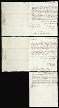 Colonial Notes:Massachusetts, Michael Hillegas to Nathaniel Appleton Delivery Receipts for Massachusetts May 5, 1780 Notes.... (Total: 3 letters)