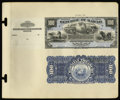 Large Size:Demand Notes, Republic of Hawaii $100 Silver Certificate 1895 Pick 15p Face andBack Proofs.... (Total: 2 notes)