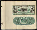 Large Size:Demand Notes, Hawaiian Islands $50 Silver Certificate (1879) Pick 3p Face andBack Proofs.... (Total: 2 notes)