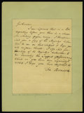 Colonial Notes:New Jersey, Francis Bernard Governor of New Jersey Paper Money RelatedLetter....