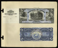 Large Size:Demand Notes, Republic of Hawaii $5 Silver Certificate 1895 Pick 11p Face andBack Proofs.... (Total: 2 notes)