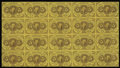 Fractional Currency:First Issue, Fr. 1230 5c First Issue Uncut Complete Sheet of Twenty VeryFine....