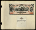 Large Size:Demand Notes, Hawaiian Islands $500 Silver Certificate (1879) Pick 5 Face andBack Proofs.... (Total: 2 notes)