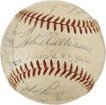 Autographs:Baseballs, 1956 Boston Red Sox Team Signed Baseball....