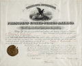 Autographs:U.S. Presidents, Theodore Roosevelt Document Signed...