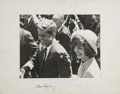 Autographs:U.S. Presidents, John F. Kennedy and Jacqueline Kennedy Photograph Signed, with a secretarial Kennedy signature....