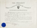 Autographs:U.S. Presidents, William McKinley Document Signed...