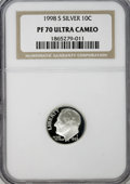 Proof Roosevelt Dimes: , 1998-S 10C Silver PR70 Ultra Cameo NGC. NGC Census: (260/0). PCGSPopulation (64/0). Numismedia Wsl. Price for NGC/PCGS co...