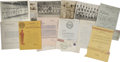 Baseball Collectibles:Others, 1910's-40's Negro League Letterhead & Photography Lot....