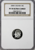 Proof Roosevelt Dimes: , 2000-S 10C Silver PR70 Ultra Cameo NGC. NGC Census: (701/0). PCGSPopulation (114/0). Numismedia Wsl. Price for NGC/PCGS c...