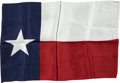 Explorers:Space Exploration, Gemini 7 Flown Large-Size Texas Flag from the Personal Collection of Mission Pilot James Lovell....