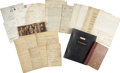 Autographs:Inventors, Thomas Edison Archive of Handwritten Letters and Notes to JaffreyBuchanan. Approximately 150 Autograph Letters and Notes Si...(Total: 150 Items)