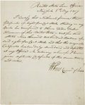 Autographs:Statesmen, William Few Document Signed as Commissioner of Loans....