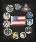 Explorers:Space Exploration, Apollo Program: Complete Framed Set of Mission Insignias....