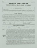 Autographs:Others, 1954 Roger Craig Signed Player Contract. Exceptional minor leagueplayer contract from Roger Craig's entry into baseball's ...