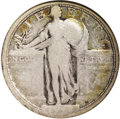 Standing Liberty Quarters: , 1916 25C --Scratched--ANACS. VG8 Details. Glimpses of ice-blue, gold, and fire-red are largely confined to the peripheries. ...
