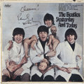 Music Memorabilia:Recordings, Beatles - Paul McCartney Signed Yesterday and Today ThirdState Mono Butcher Cover (Capitol 2553, 1966)....