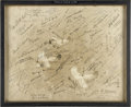 Autographs:Celebrities, Vintage Photograph Signed by One Hundred Aviation and Space TravelPioneers including Six Moonwalkers....