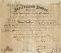 Autographs:Statesmen, Jefferson Davis Signed Appointment as President of the ConfederateStates of America, countersigned by Judah P. Benjamin ...