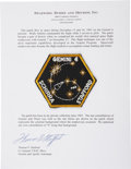 Autographs:Celebrities, Gemini 6A Flown Embroidered Crew Patch Originally from theCollection of Mission Pilot Thomas P. Stafford....