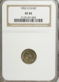 Seated Half Dimes: , 1852-O H10C XF45 NGC. NGC Census: (5/34). PCGS Population (5/28).Mintage: 260,000. Numismedia Wsl. Price for NGC/PCGS coin...