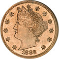 Patterns, 1882 5C Liberty Head Five Cents, Judd-1691, Pollock-1893, R.6, PR62 Red and Brown NGC....
