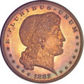 1882 $1 Shield Earring Dollar, Judd-1703, Pollock-1905, High R.7, PR66 ★ Red and Brown Cameo NGC....(PCGS# 72109)