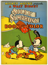 Mickey Mouse Presents a Walt Disney Silly Symphony Book to Color #660(Whitman, 1934)