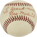 Autographs:Baseballs, Joe Medwick Signed Baseball and Hall of Fame Mementos....